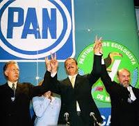 Alianza PAN - Partido Verde impulsan a Vicente Fox a la Presidencia en el 2000