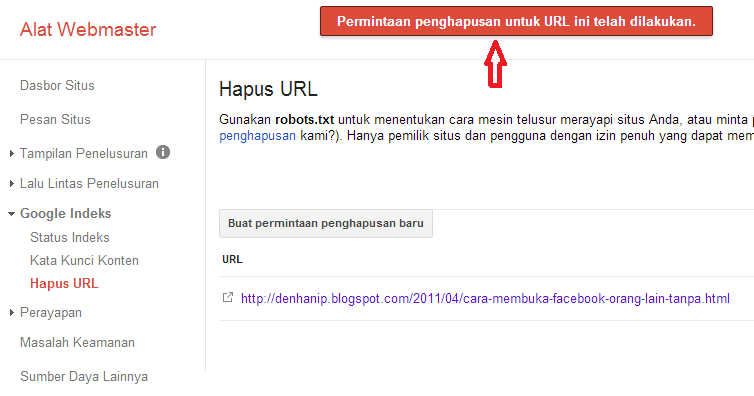 Cara memperbaiki Error 404 Page Not Found Webmaster Google Tool
