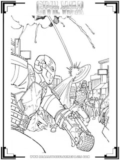 coloring pages of captain america civil war
