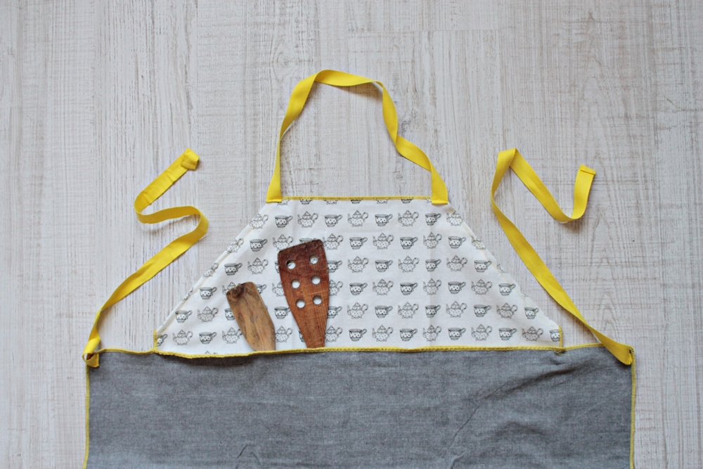 tea towel apron tutorial