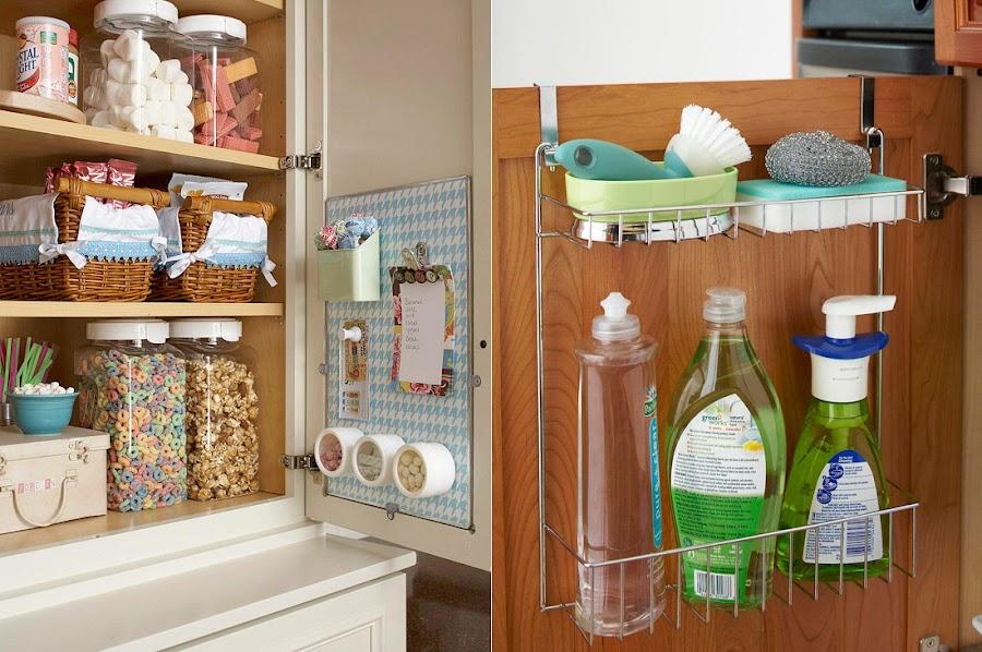Utiliza el interior de las puertas de tus armarios