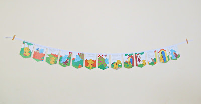 image spot the dog bunting eric hill children puppy animals birthday party first domum vindemia handmade upcycled