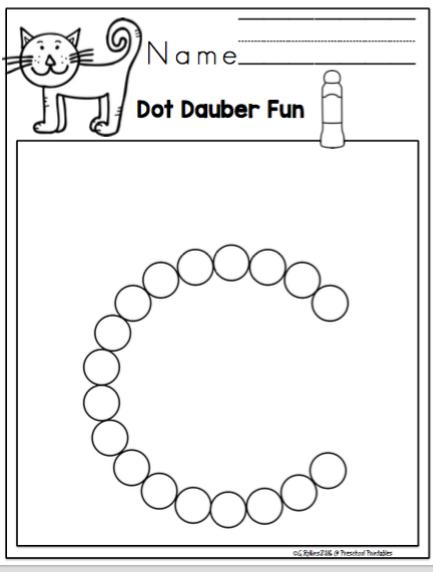 Dot Dauber Fun with the Alphabet ~ Preschool Printables