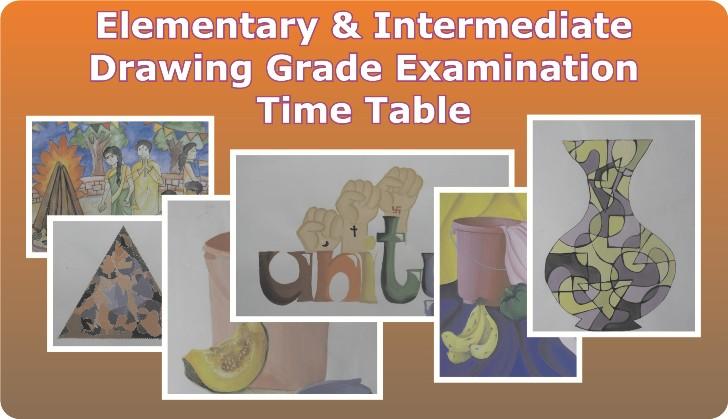 Harmony Arts Thane: Maharashtra Govt Drawing Grade Exam Time Table