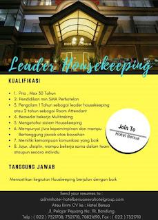 Lowongan Kerja Hotel Benua Bandung Terbaru 2019