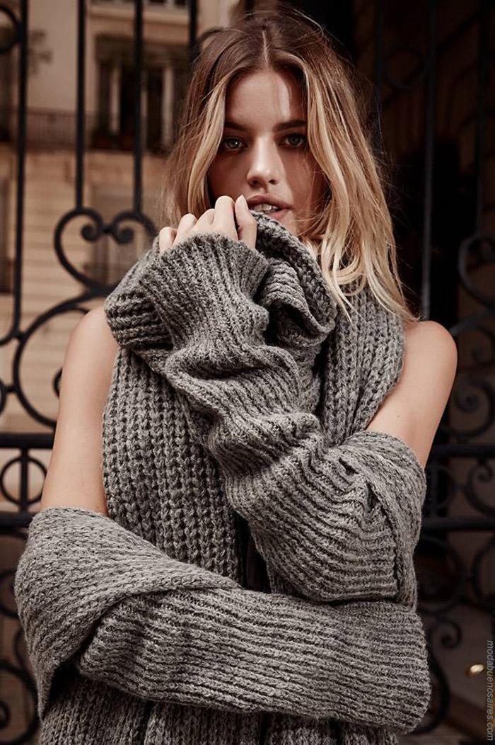 Sweaters invierno 2019. Moda tejidos invierno 2019.