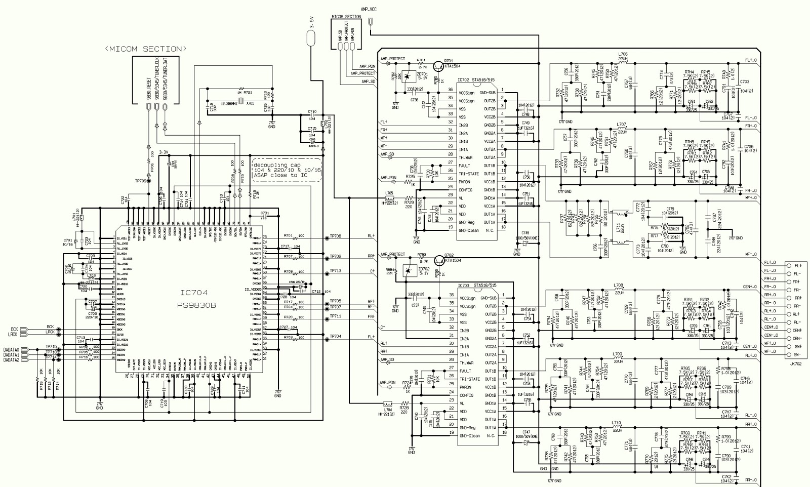 Lg Lh T X Lg Lh T X Power Amp And Smps Schematic