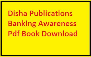 Disha Publications Banking Awareness Pdf Book Download