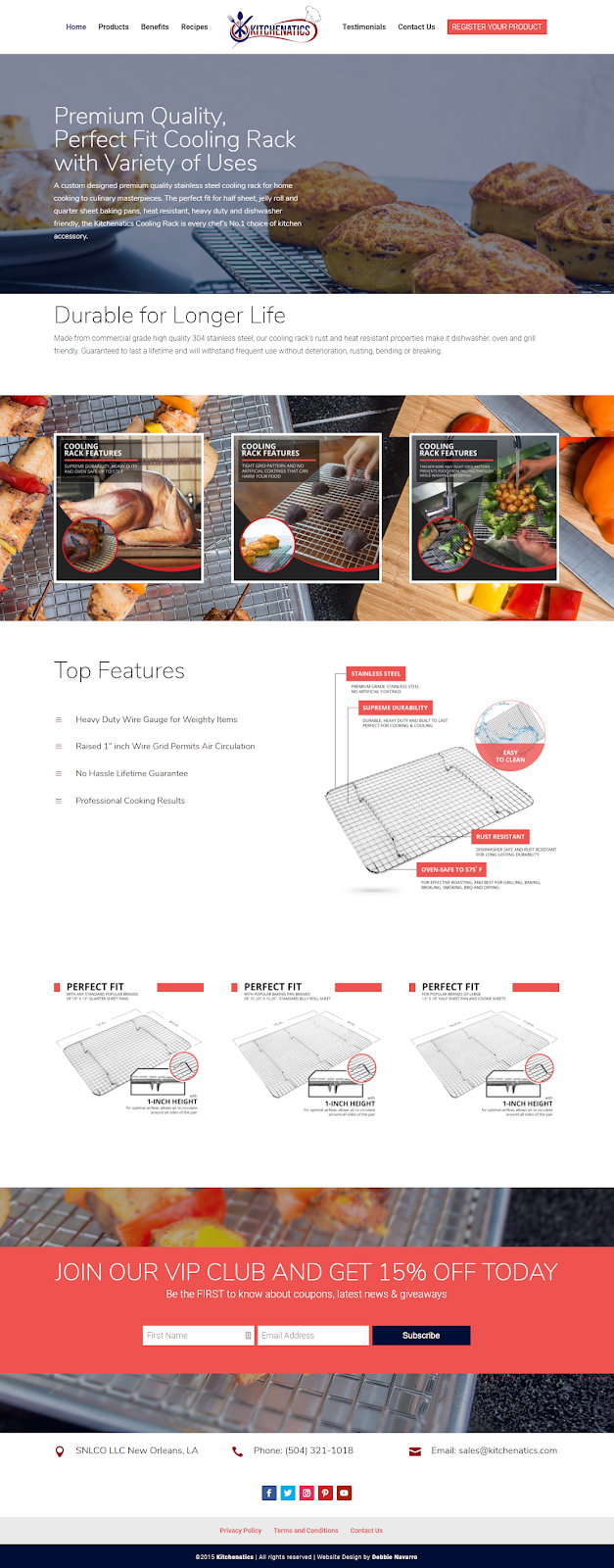 Kitchenatics DIVI Wordpress Website Development