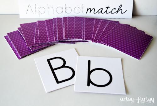 photo relating to Alphabet Matching Game Printable identify No cost Printable Alphabet Sport Match artsy-fartsy mama