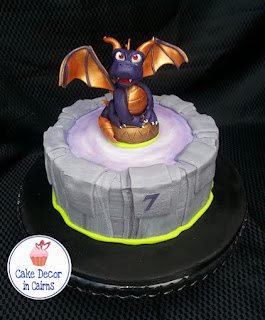 Skylanders Spyro Edible Inspired Fondant Topper  Portal Cake