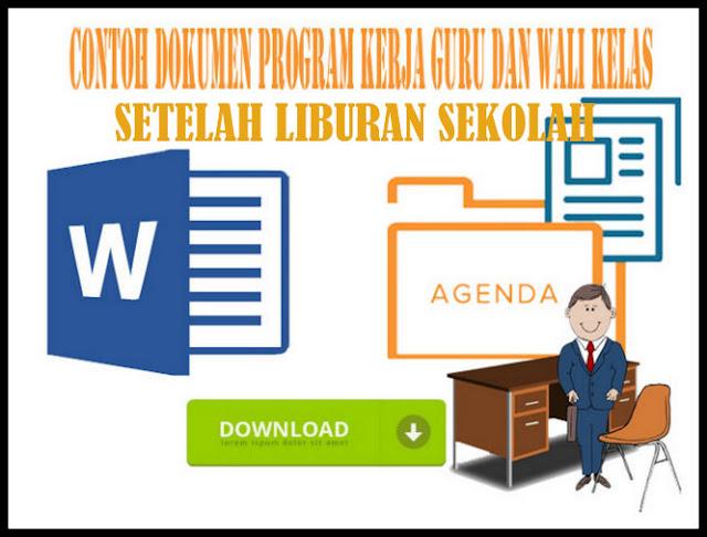 Download Contoh Program Kerja Guru Setelah Libur Sekolah