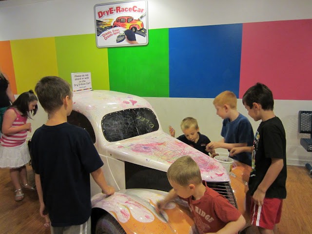 Coloring Car at the Crayola Experience