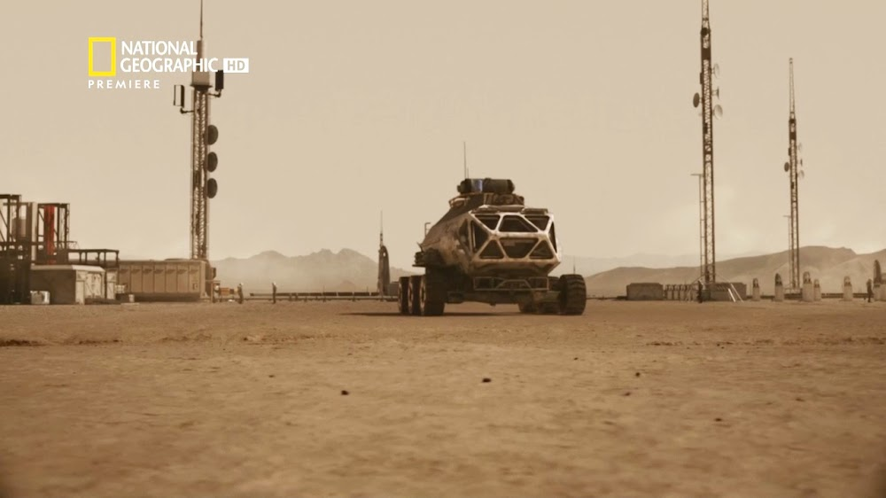 National Geographic's MARS - episode 3, season 2 (rover leaving base)