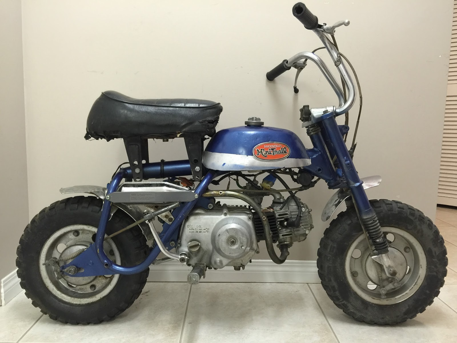Z50 A Mini Trail Restoration Project Honda Monkey Z50j Wiring Diagram The Bad