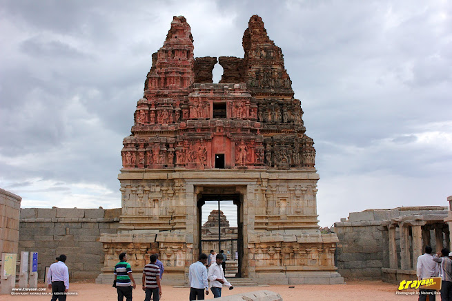 Main east Gopura of Vitthala temple courtyard, Hampi, Karnataka