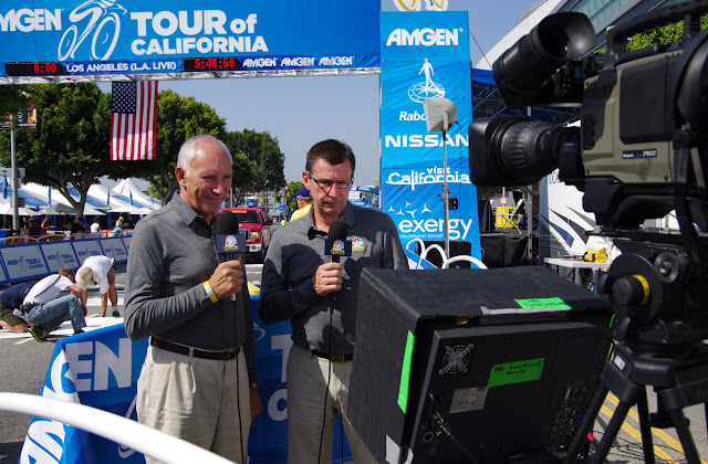 Phil Ligget and Paul Sherwen NBC