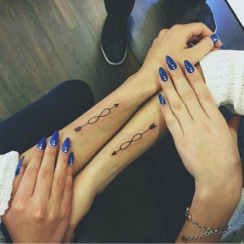 best friends infinity tattoo