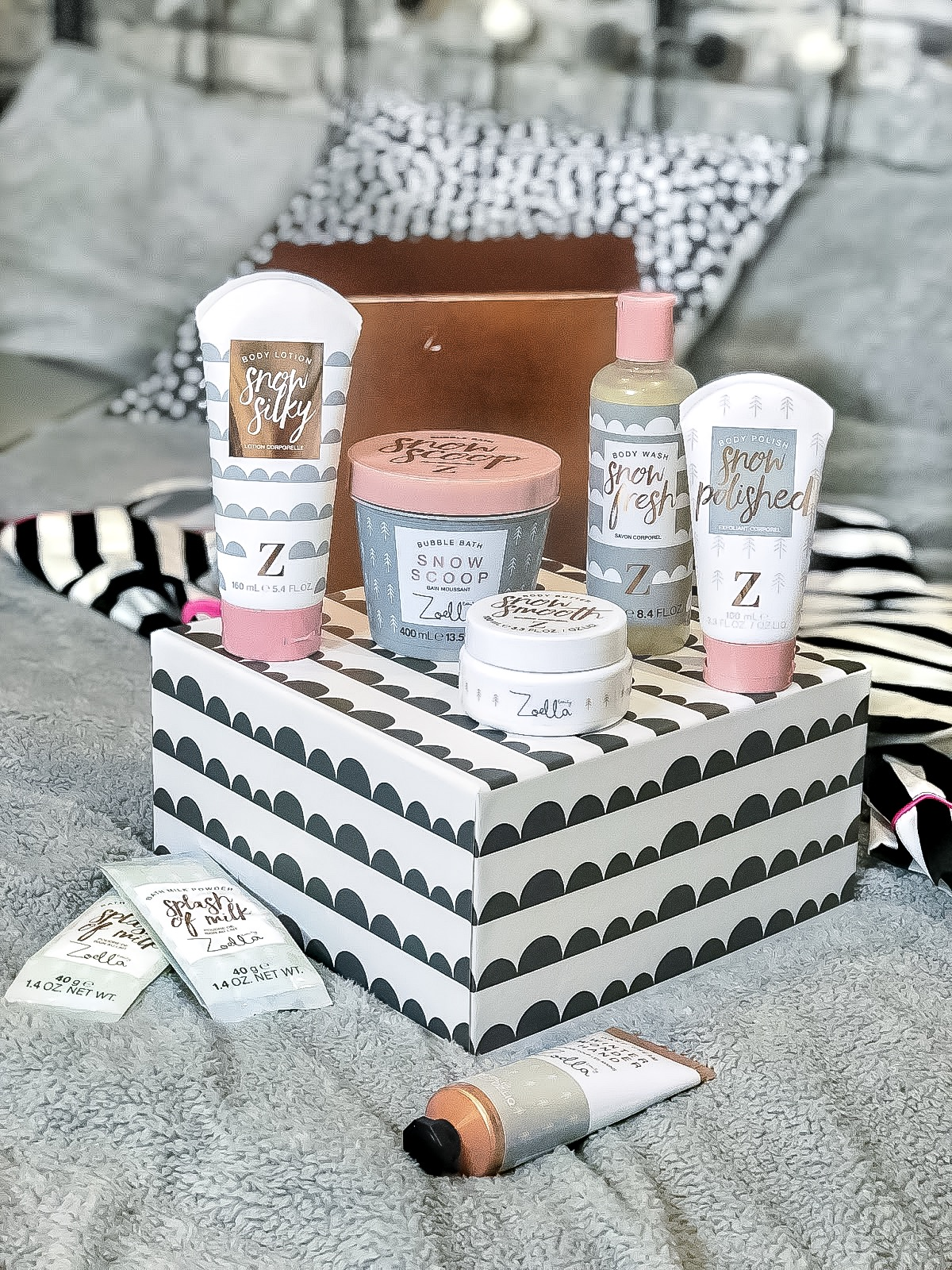 zoella bath and body products review snowella scent winter 2017