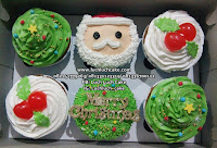 Christmas Cupcake Buttercream Surabaya - Sidoarjo