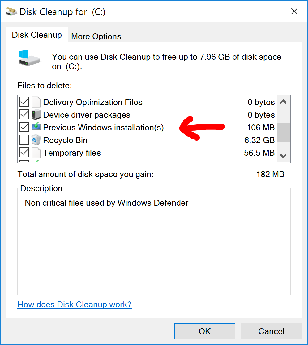 How safely delete Windows old folder from Windows 10 - Mohamad A