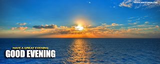 Best Evening Wishes Messages Ocean View Sun Set time