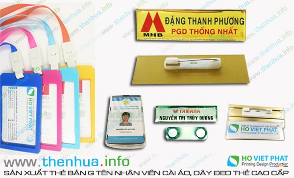 In name card nhựa trong suốt cao cấp