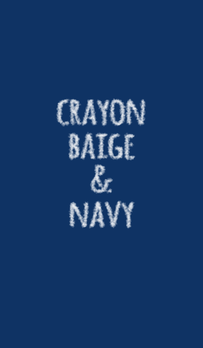 Crayon beige & navy / circle