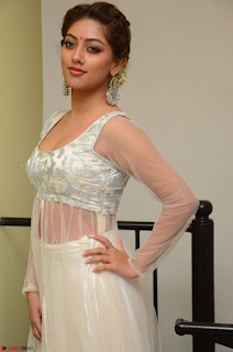 Anu Emmanuel in a Transparent White Choli Cream Ghagra Stunning Pics 107.JPG