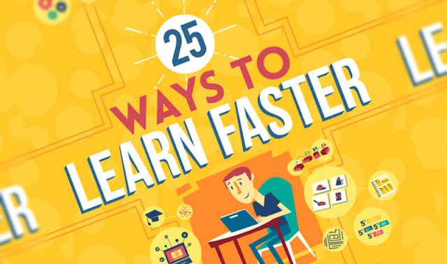 25 Ways to Train Your Brain to Learn Faster and Remember More - infographic