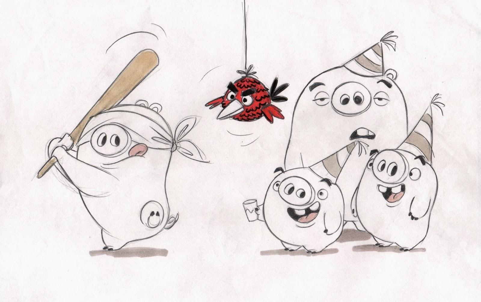 Desenhos De Sandro Cleuzo Para O Filme Angry Birds: Inspector Cleuzo: My Angry Birds Designs