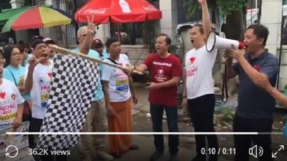 Jokowi Tak Sebut Angka 2, Warga Bikin Parodi Aba-aba Jalan Sehat Tanpa Angka 1