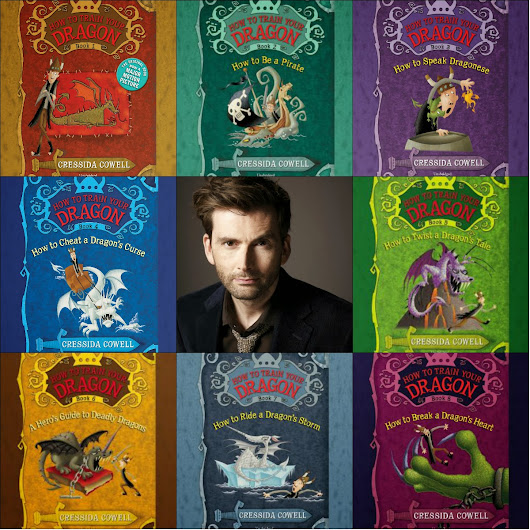 Reading Teen: Audio Review: How To Train Your Dragon series by Cressida Cowell Narrated by David Tennant from Hachette Audio