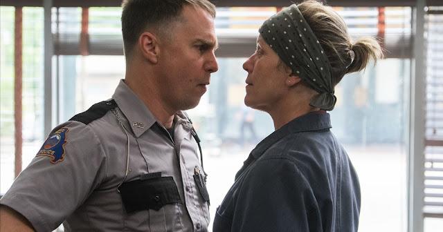 "Sam Rockwell and Frances McDormand in Oscar heavyweight ""Three Billboards Outside Ebbing, Missouri"""
