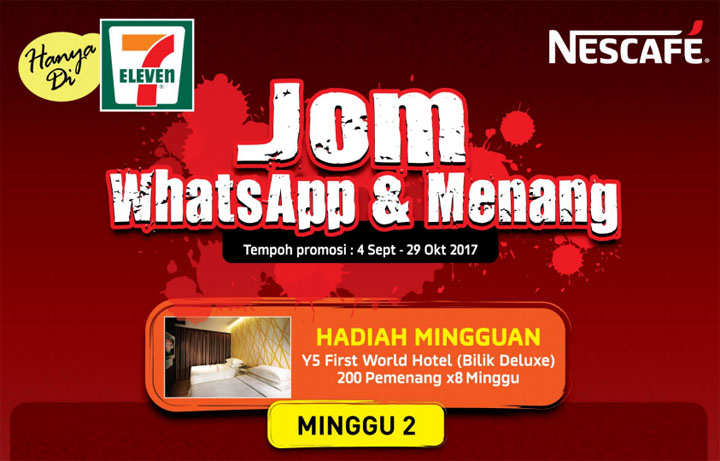 Menang Penginapan Y5 First World Hotel Contest WhatsApp