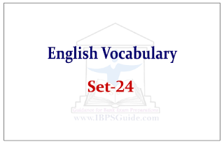 English Vocabulary Set-24 (with meaning and example)