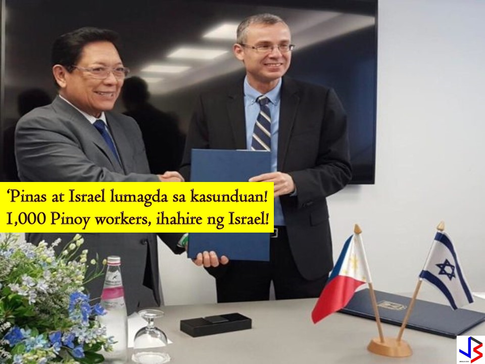 Another good news to Filipinos who want to work abroad. Israel will now be allowed 1,000 Filipinos to work in the country's hotel industry! This is the effect of the agreement signed by Department of Labor and Employment (DOLE) Secretary Silvestre Bello III and his Israeli counterpart, Tourism Minister Yariv Levin last December 10.  Aside from the generation of 1,000 hotel jobs, the signed agreement will also benefit the Filipino caregivers in Israel. It said that exploitative placement fees that are being charged to Filipino workers would be reduced if not eliminated.   According to Levin the arrival of 1,000 Filipino workers in Israel is a big help in the current and severe staff shortage that affecting Israeli hotel industry inspire of tourism growth. He said that the primary problem of the tourism industry right now is the labor shortage. And with the agreement, he signed with the Philippines, the quota of foreign workers especially Filipinos in their hotel industry will increase. Levin hopes that this thing will solve labor shortage both in housekeeping and cleaning. Base on the data of Tourism Ministry there are 1, 550 vacant cleaning position in the country while jobs that require training including cooks and waiters has 1,600 unfilled positions. Levin said the industry has experienced difficulty in recruiting Israeli workers, regardless of wages. For his part, DOLE Chief said that this agreement is a welcome cooperation between the Philippines and Israel and that he is certain that additional agreements will push through. Bello explains that workers that will arrive in Israel will be English speakers and have completed a professional training program sponsored by the Filipino government. They will be employed directly by Israeli hotels and not through contractors. The additional workers will be deployed to the following regions; Dead Sea Tel Aviv and Central Regions Jerusalem and Northern Israel As of now there are around 28,000 Filipino living or working in Israel mainly as caregivers.  As of now, the following are jobs orders from Philippine Overseas Employment Administration (POEA) to Israel!