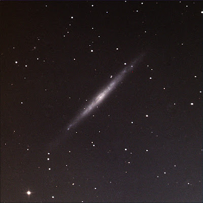 LRGB image of Silver Needle galaxy