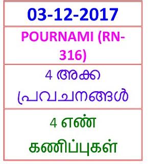 03-12- 2017 4 nos Predictions POURNAMI (RN-316)