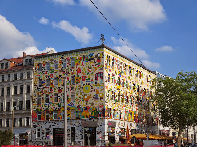 What to see in Leipzig Germany: street art in the student quarter (aka Karli)