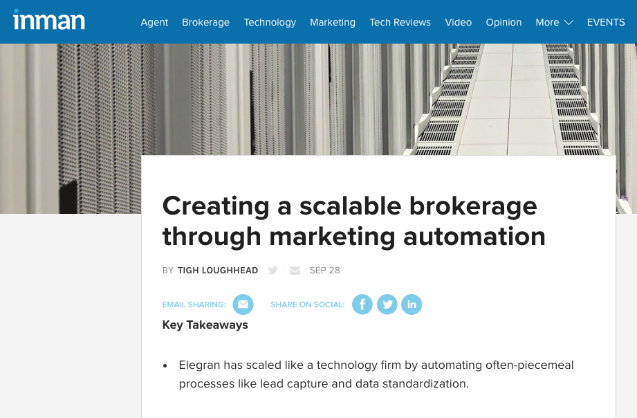 Tigh Loughhead writes for Inman News about Pardot Marketing Automation
