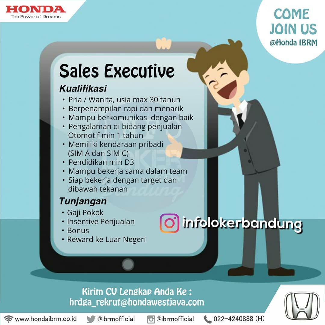 Lowongan Kerja Honda IBRM Bandung Maret 2018