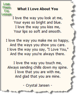 Writing Love Poems for Your Boyfriend or Husband