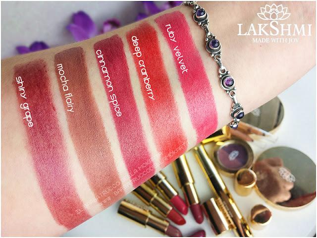 lipstick rossetti swatches lakshmi makeup vegan ecobio
