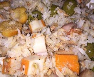 Wild rice salad with tuna