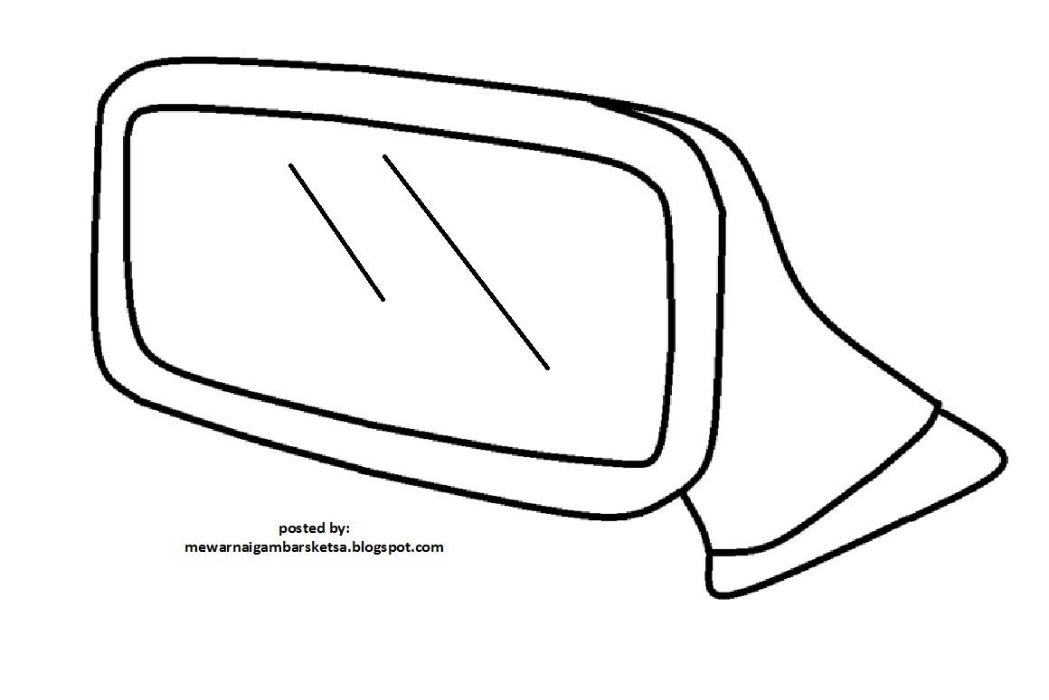 Mewarnai Gambar Sketsa Kaca Spion 3
