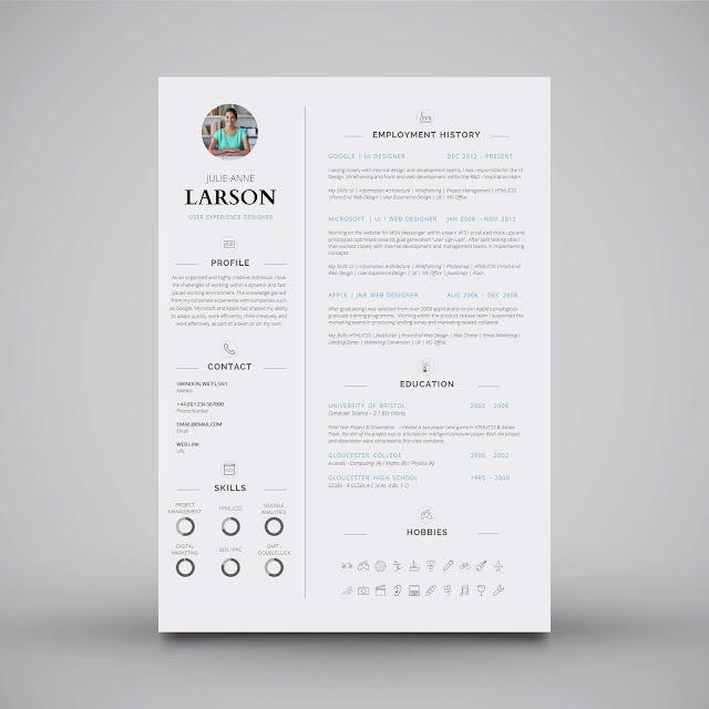 Sıradışı Değişik Farklı Özgeçmiş CV Tasarım Örnekleri
