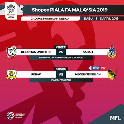 Live Streaming Perak vs Negeri Sembilan Piala FA 3.4.2019