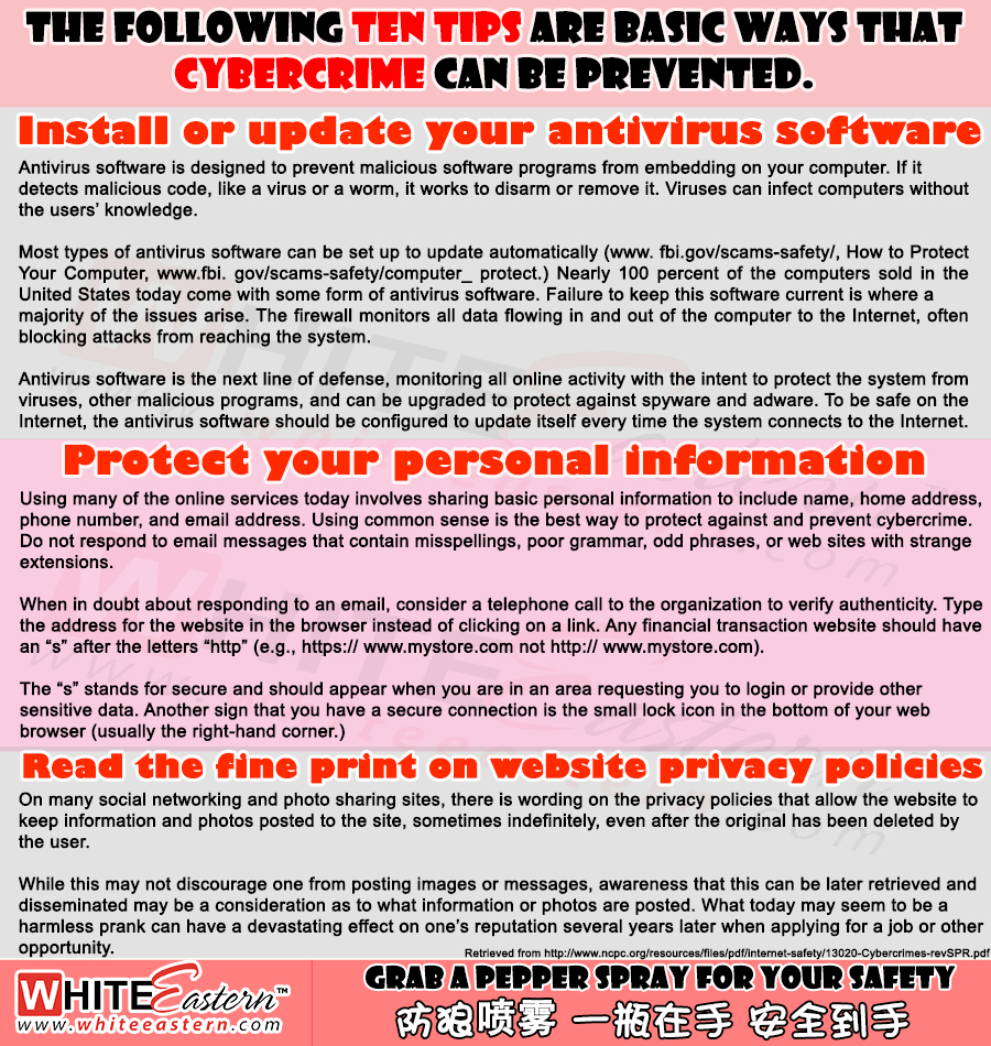 Ten Tips to prevent Cybercrime - Malaysia Crime Infonet