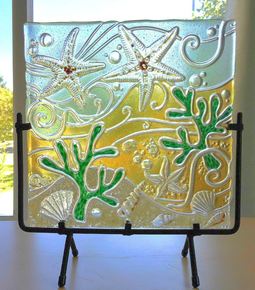 Stained Coastal Glass Art